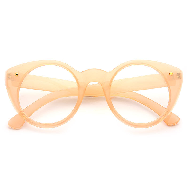 Mia Oversized Round Clear Glasses