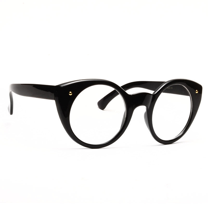 Mia Oversized Round Clear Frame Clear Glasses