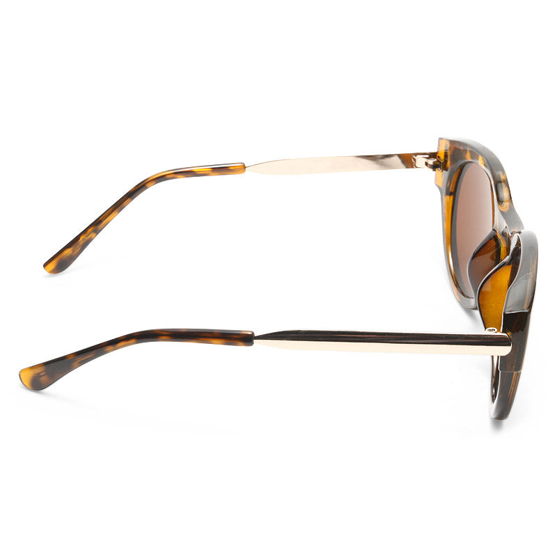 Marion Thick Frame Horn Rimmed Sunglasses