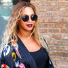 Beyonce Style Retro Round Side Cover Sunglasses