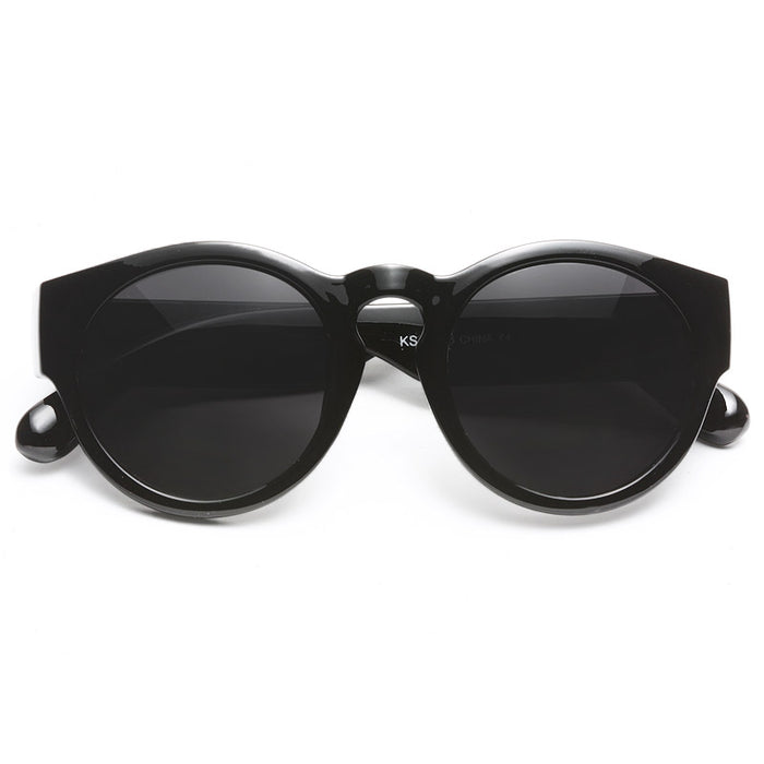 Cosmic Retro 90s Thick Frame Round Sunglasses