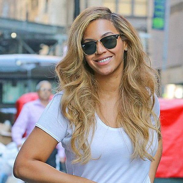 Beyonce Style Polarized Half Frame Celebrity Sunglasses