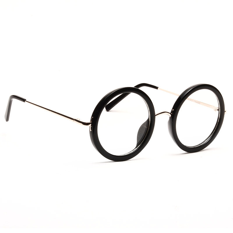 Khloe Oversized Thick Round Clear Glasses