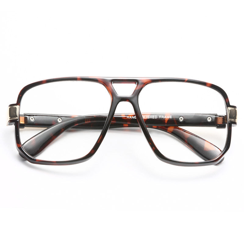 Marcelo Square Aviator Clear Glasses
