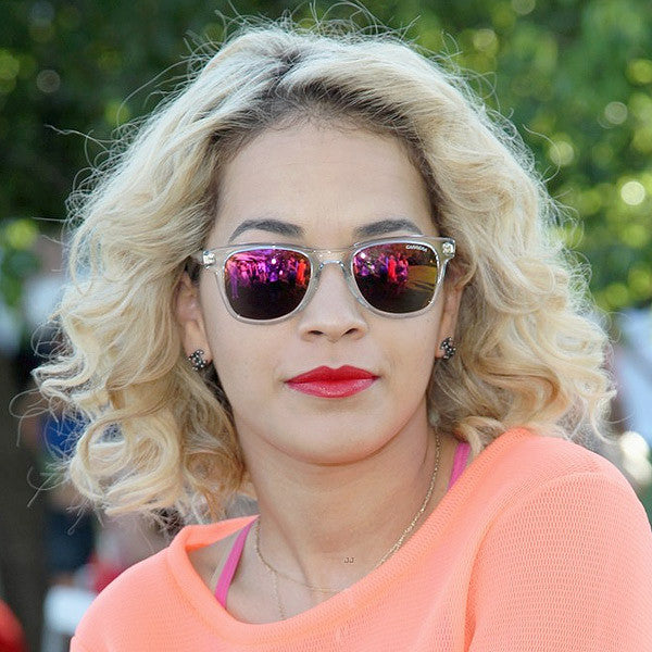 Rita Ora Style Clear Frame Horn Rimmed Celebrity Sunglasses