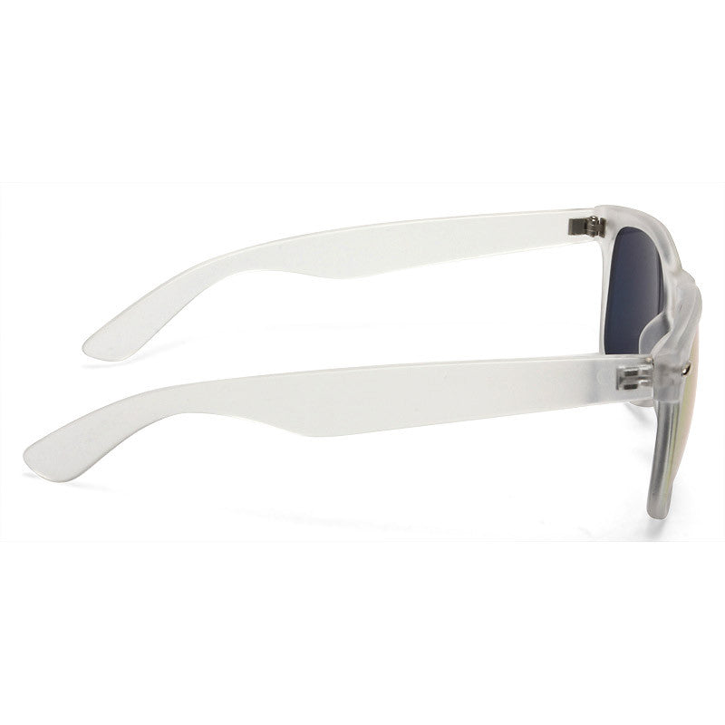 Jude Large Frosted Horn Rimmed Clear Frame Sunglasses