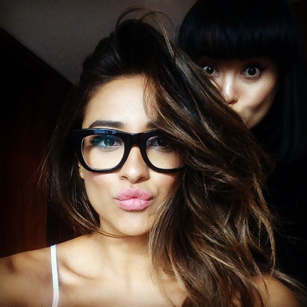 Shay Mitchell Style Thick Horn Rimmed Celebrity Clear Glasses