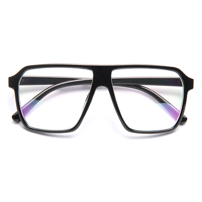 Knox Unisex Flat Top Clear Glasses