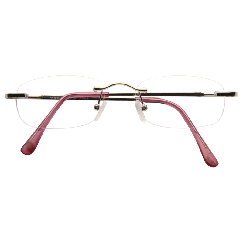 Grace Slim Rimless Rectangular Clear Glasses