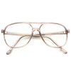 Moses Vintage Clear Aviator Glasses