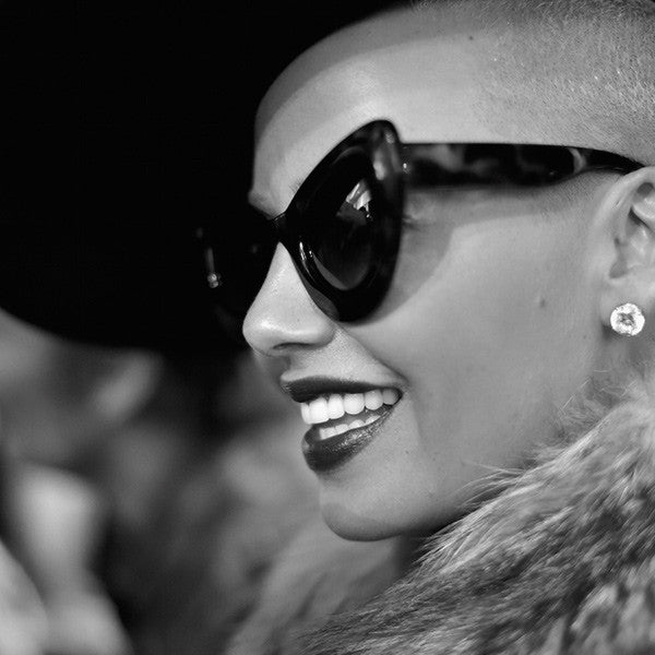 Amber Rose Style Oversized Cat Eye Celebrity Sunglasses
