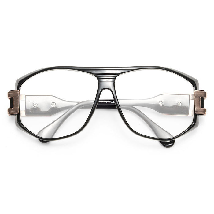Franklin Metal Accent Plastic Clear Aviator Glasses