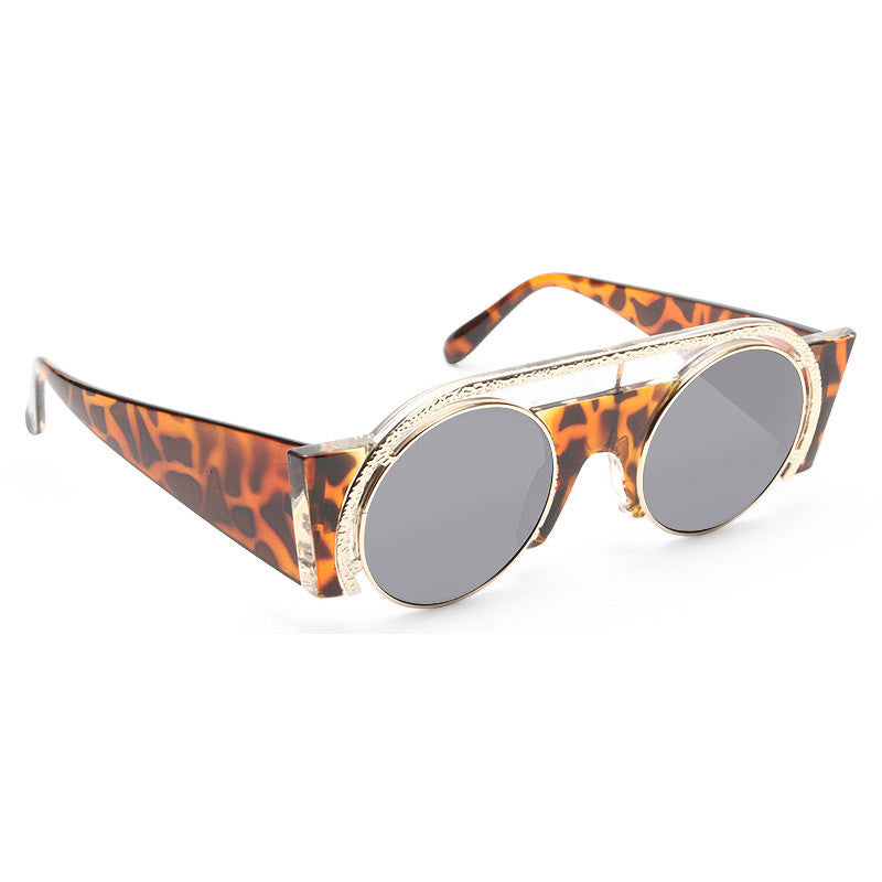 Lady Gaga Style Futuristic Flat Top Celebrity Sunglasses