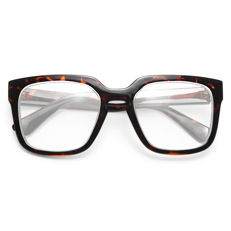 Cypress Unisex Clear Horn Rimmed Glasses