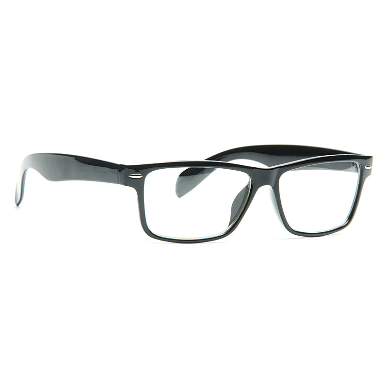 Norfolk Unisex Skinny Clear Horn Rimmed Glasses