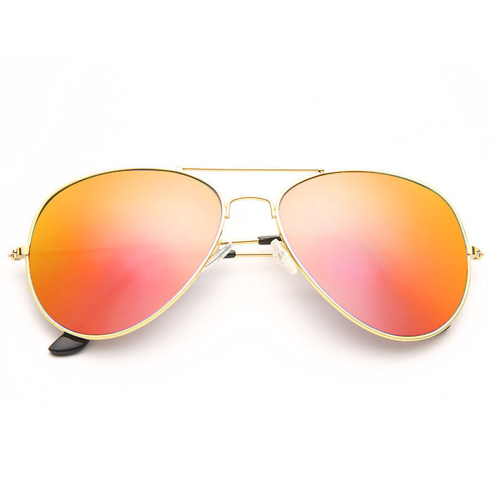 Classic 60mm Color Mirror Aviator Sunglasses