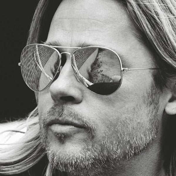 Brad Pitt Style 60Mm Color Mirror Aviator Celebrity Sunglasses