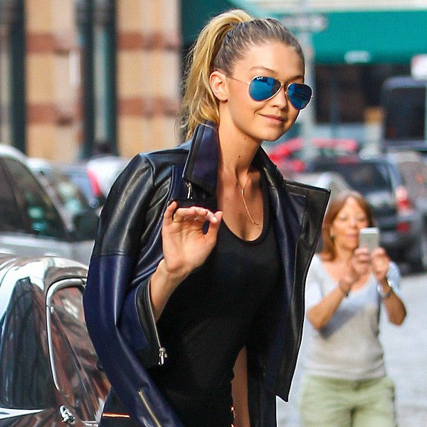 Gigi Hadid Style 60Mm Color Mirror Aviator Sunglasses