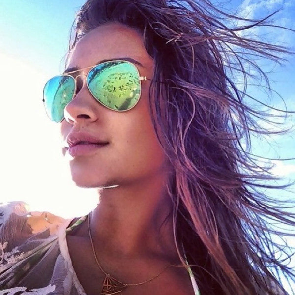 Shay Mitchell Style 60Mm Color Mirror Aviator Sunglasses