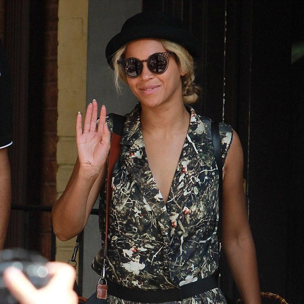 Beyonce Style Metal Lattice Mod Celebrity Sunglasses