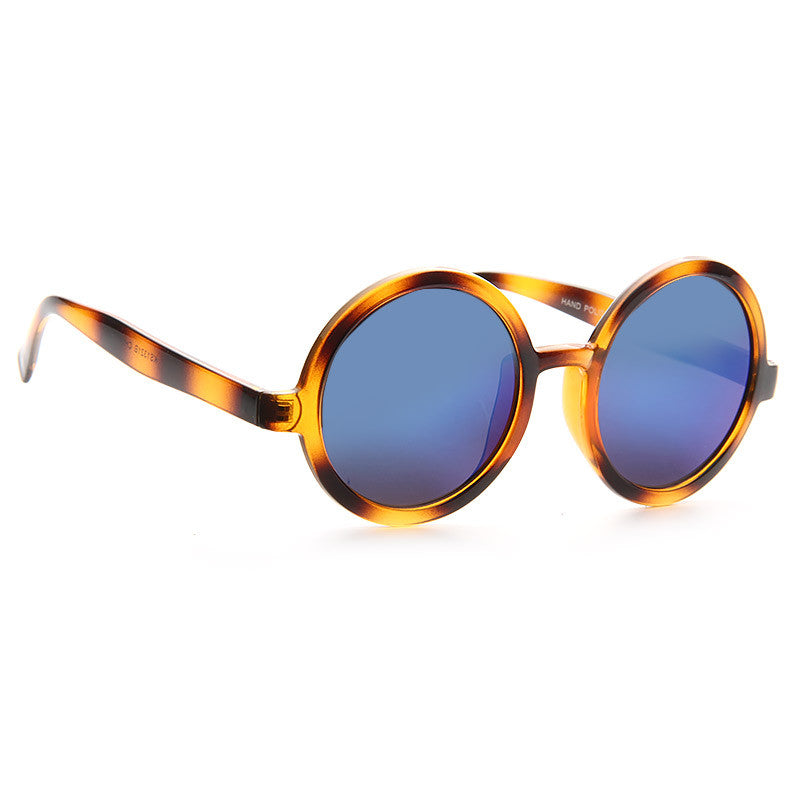Miller Oversized Round Color Mirror Sunglasses