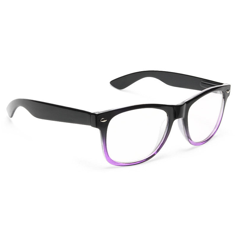 Jude Large Ombre Clear Horn Rimmed Glasses