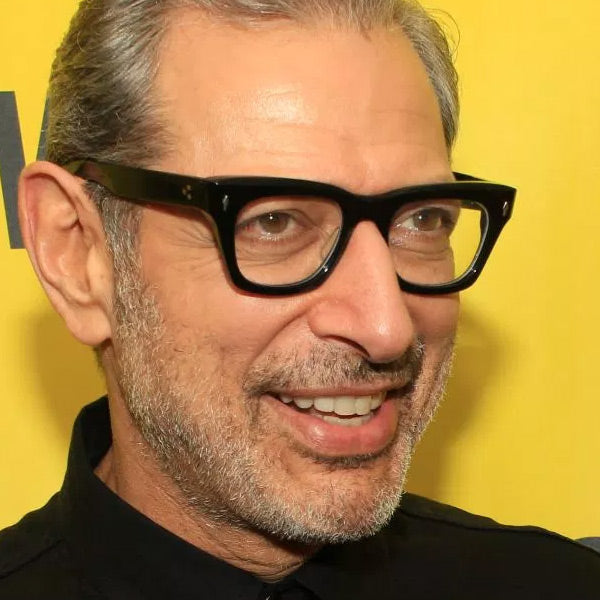 Jeff Goldblum Style Horn Rimmed Clear Glasses
