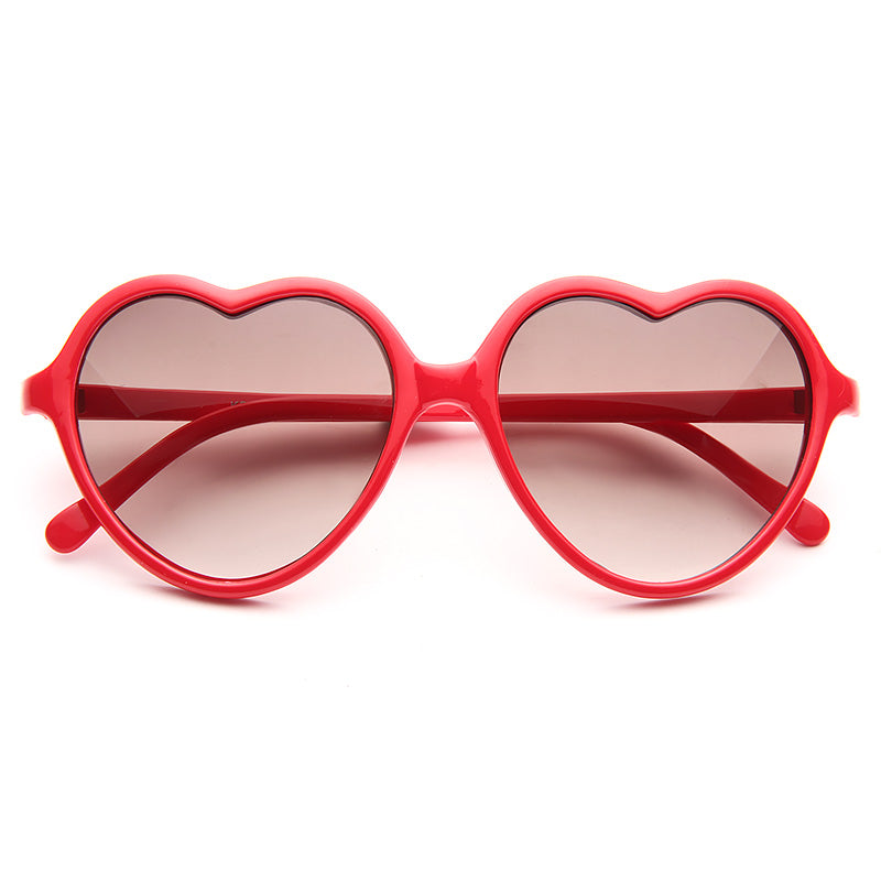 Ashley Tisdale Style Plastic Heart Sunglasses