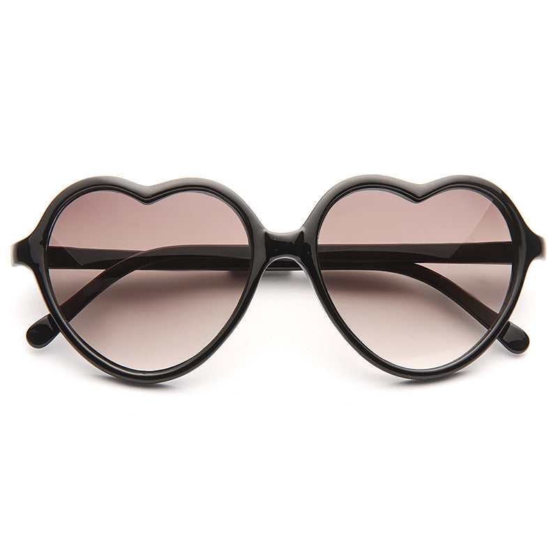 Paris Hilton Style Plastic Heart Celebrity Sunglasses