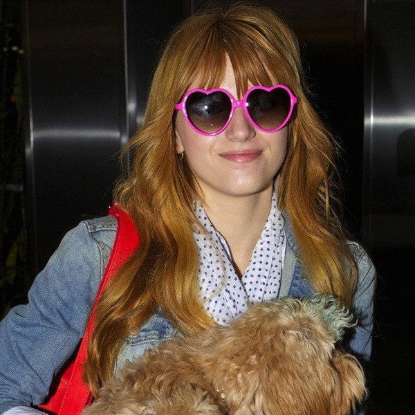 Bella Thorne Style Plastic Heart Celebrity Sunglasses