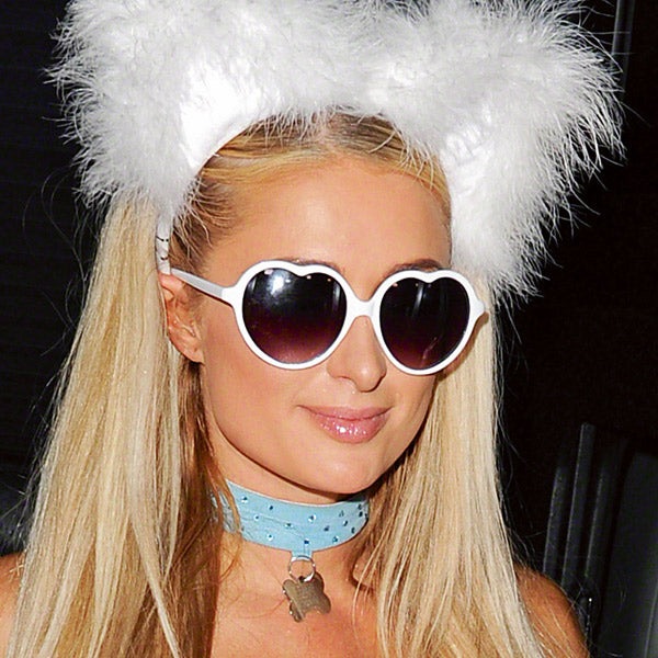 Paris Hilton Style Plastic Heart Sunglasses