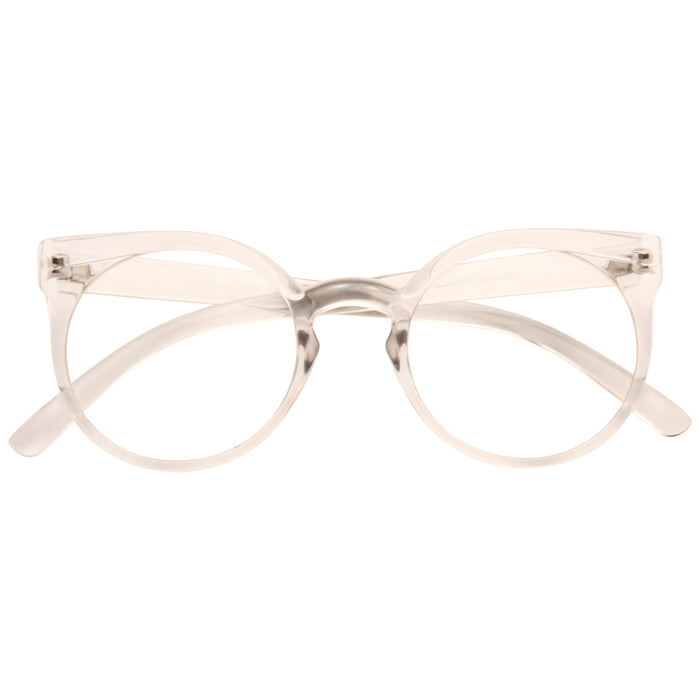 Kosha Oversized Designer Inspired Rounded Clear Frame Clear Glasses