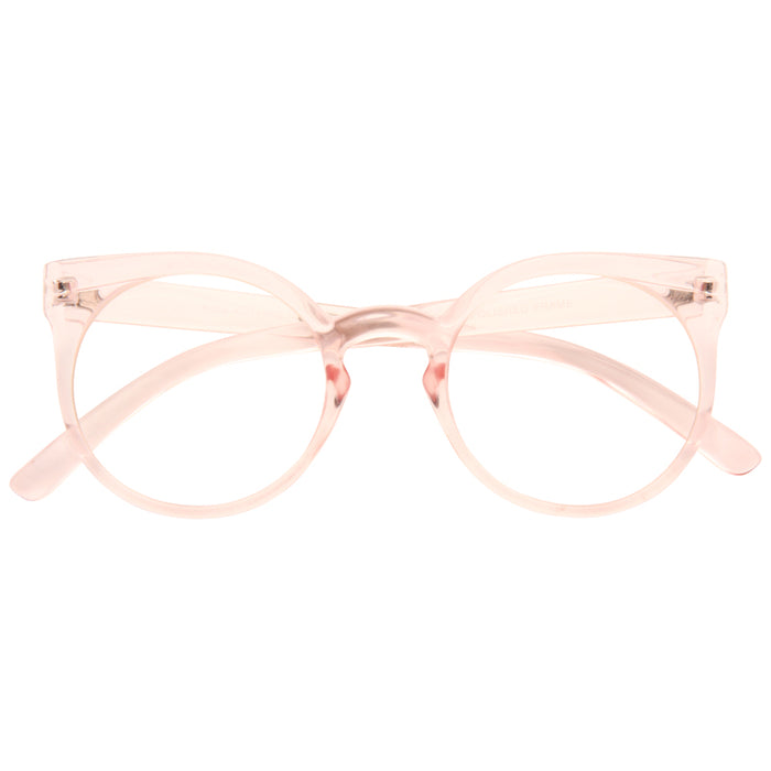 Kosha Designer Inspired Rounded Clear Glasses