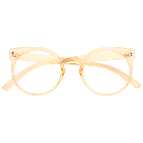 8a050373817 Kosha Designer Inspired Rounded Clear Glasses