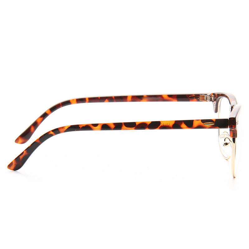 Peyton 3 Unisex Half Frame Clear Frame Clear Glasses