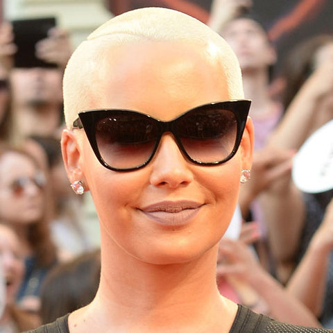 31fb77bcab5 Amber Rose Style Pointed Cat Eye Celebrity Sunglasses