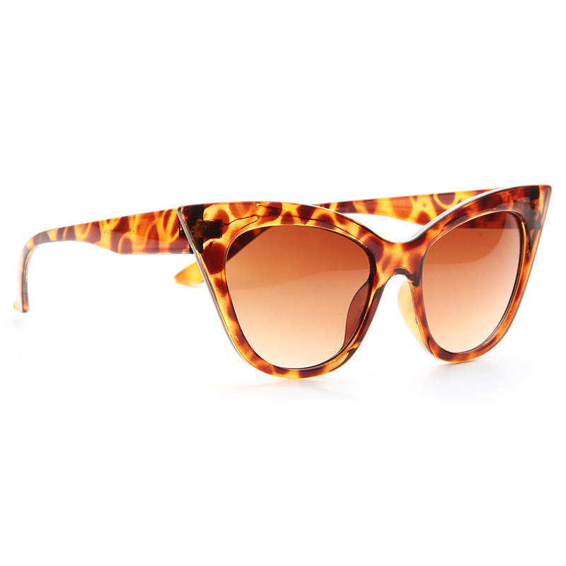 Amber Rose Style Pointed Cat Eye Sunglasses