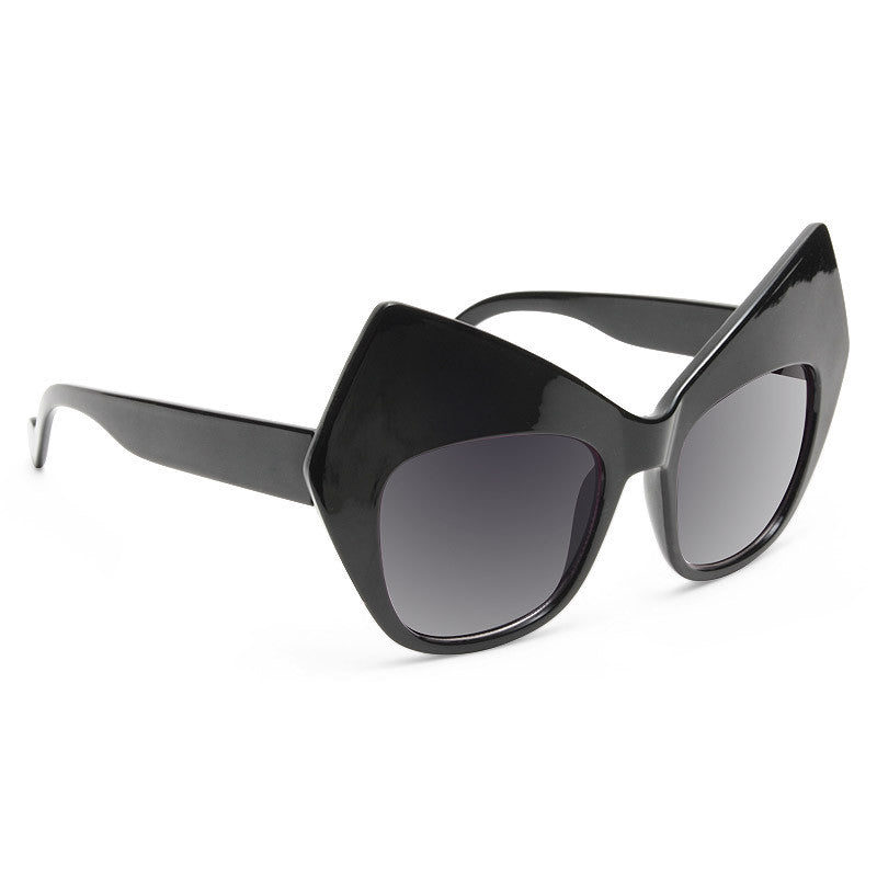 Gotham Oversized Bat Ear Sunglasses