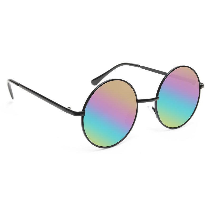 Mary Kate Color Mirror 90s Round Metal Sunglasses