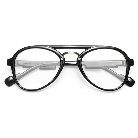 34862a2272 Darby Plastic Flat Top Clear Aviator Glasses