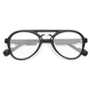 Darby Plastic Flat Top Clear Aviator Glasses