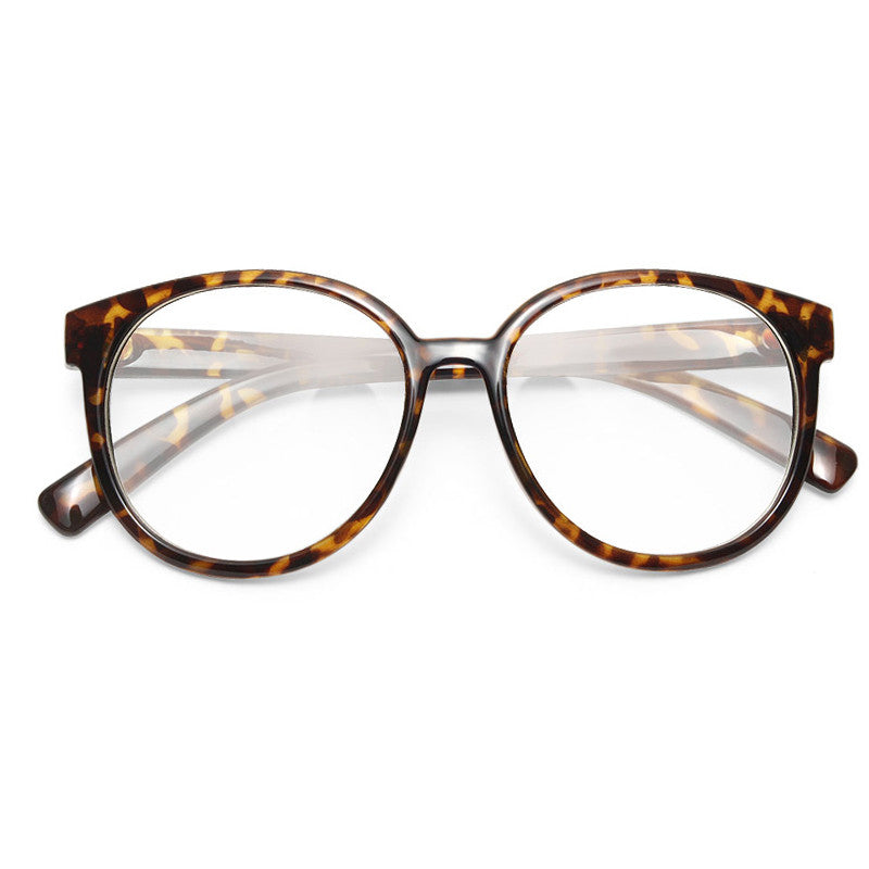 Gale Oversized Rounded Clear Glasses