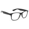 Gable Large Pinstripe Clear Horn Rimmed Glasses