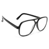Fran Plastic Flat Top Clear Aviator Glasses