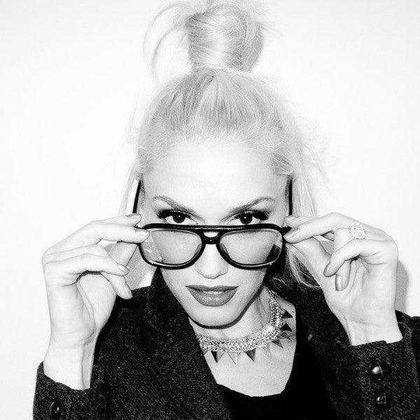 73b12de7c0 Gwen Stefani Style Plastic Flat Top Celebrity Clear Aviator Glasses ...