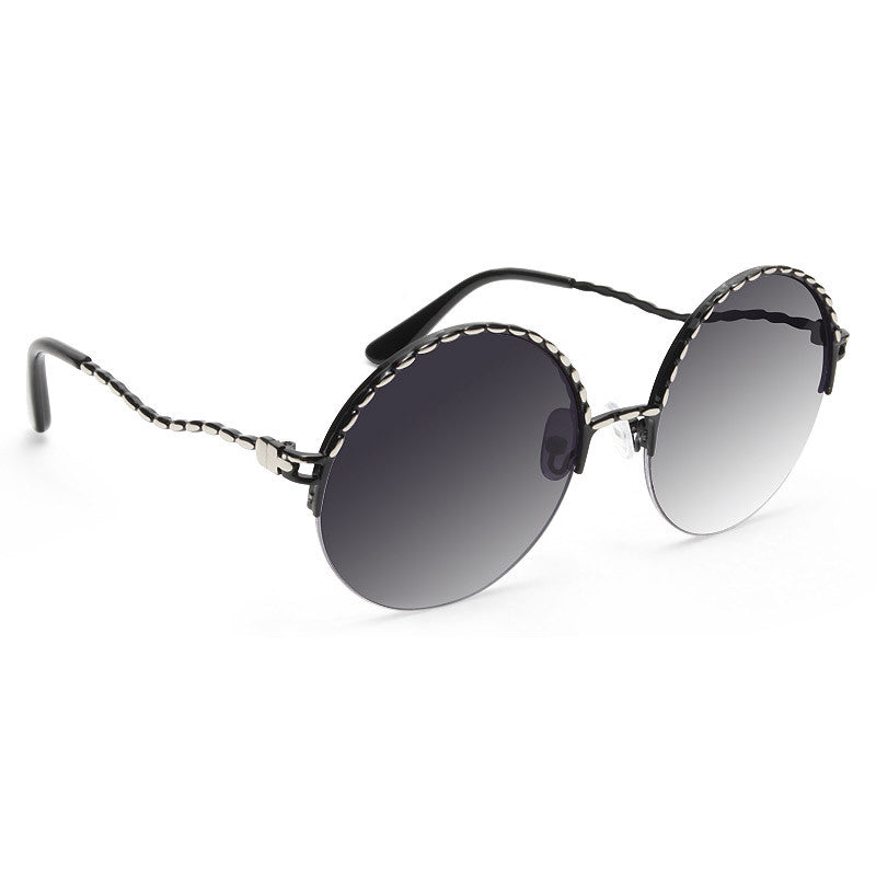 Dallas Round Rimless Metal Sunglasses