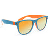 Dakota X Large Rubber Color Mirror Horn Rimmed Sunglasses