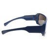 Cyrus Oversized Color Mirror Flat Top Sunglasses