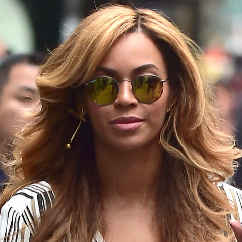 9179e763b7c Beyonce Style Metal Rounded Color Mirror Celebrity Sunglasses