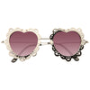 Carys Metal Scalloped Heart Sunglasses